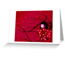 Chasing crane blossom Greeting Card