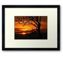 LAST LIGHT - NATURAL COLOR Framed Print