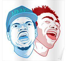Chance The Rapper/Childish Gambino Poster