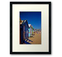 Brighton Beach Huts 2  Framed Print