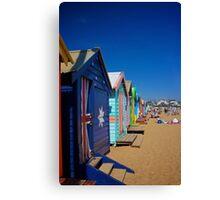 Brighton Beach Huts 2  Canvas Print