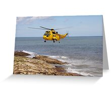 R.A.F. Rescue Helicopter Greeting Card