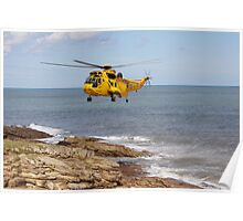 R.A.F. Rescue Helicopter Poster