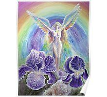 Iris, the rainbow goddess Poster