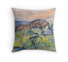 Echo Waits with Art and Care Throw Pillow