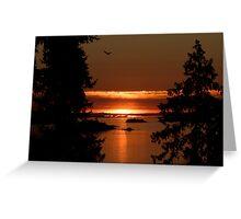Winchelsea Islands Sunset Greeting Card