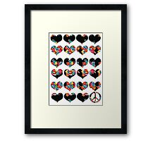 LOVE LOVE AND PEACE Framed Print