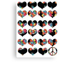 LOVE LOVE AND PEACE Canvas Print