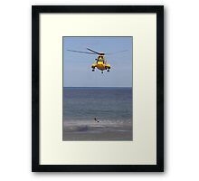 Seaking Rescue Helicopter Framed Print