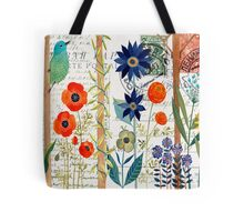 Birds with flowers Tote Bag