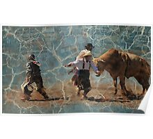 Scatter! Montana Rodeo, Bull Fighting at it's best! Poster