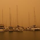 Manly Harbour Dust Storm by Helen Phillips
