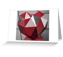 Red Diamond Heart Greeting Card