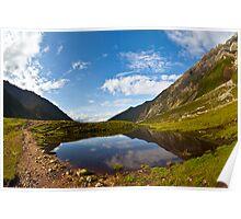 small mountain lake Poster