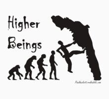 Higher Beings - Black Text by Paul Duckett