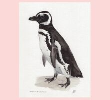 Penguin Watercolor Painting Kids Clothes