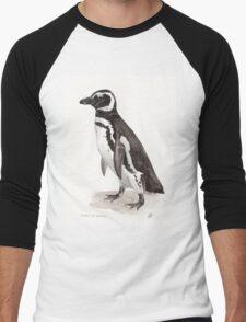 Penguin Watercolor Painting Men's Baseball ¾ T-Shirt