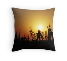 Golden Trawlers Throw Pillow