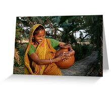 A Joyous Indian Woman Greeting Card