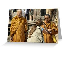 Photo Monks Greeting Card