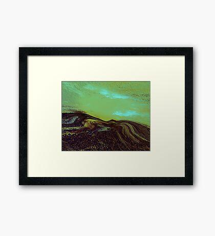a tribute....blue green Framed Print
