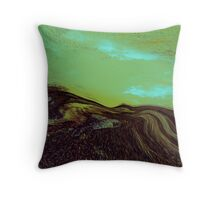 a tribute....blue green Throw Pillow