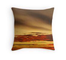 September Sunset Drama Throw Pillow