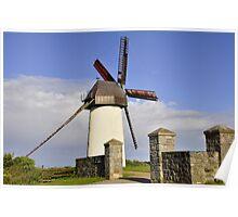 Windmill in Skerries Poster