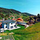 Springtime village skyline panorama by Patrick Jobst