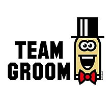 Team Groom Cartoon (Bachelor Stag Party / 3C) Photographic Print