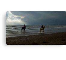 10 BEACH RUN CALENDAR Canvas Print