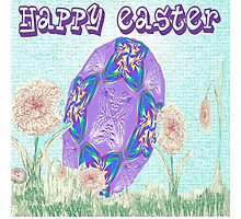 Happy Easter or Pretty Foil Egg Photographic Print