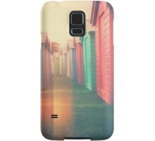 Beach Huts 02D - Retro Samsung Galaxy Case/Skin