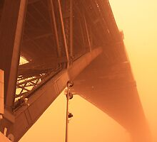 Red Dust Storm - Sydney Harbour Bridge by Mal Wood