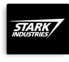 Stark Industries-White Canvas Print
