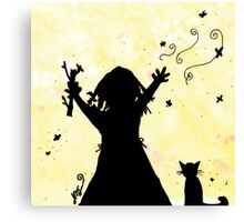 She Dreams of Magic in the Moon Canvas Print