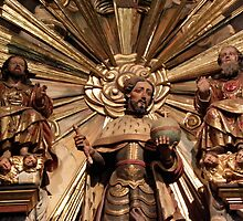 Patron with God (Father and Son), San Fernando by Robert Arconti