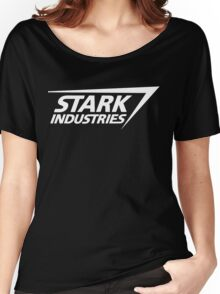 Stark Industries-White Women's Relaxed Fit T-Shirt