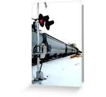 The Other Side of the Tracks Greeting Card