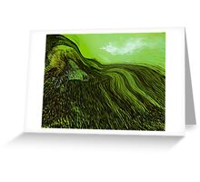 tribute in green.... abstract vision Greeting Card