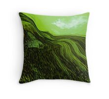 tribute in green.... abstract vision Throw Pillow