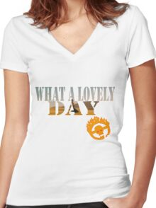 What A Lovely Day Women's Fitted V-Neck T-Shirt