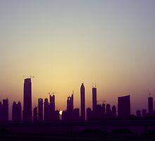 Dubai skyline by powderedwater