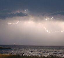 Beach Lightning by bam246