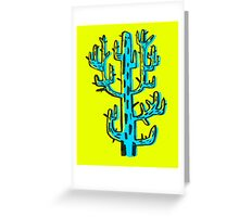 Cactus azul Greeting Card