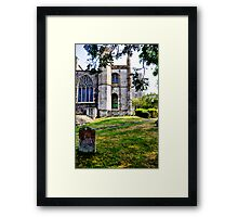 A quiet place to rest. Framed Print