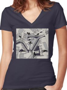 Home Improvement Women's Fitted V-Neck T-Shirt