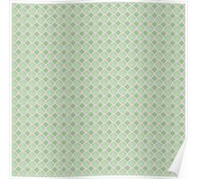 Luxury background with pearls. Silk satin. Pastel, tender green Poster