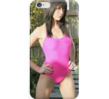 Pretty Pink Swimsuit Girl iPhone Case/Skin