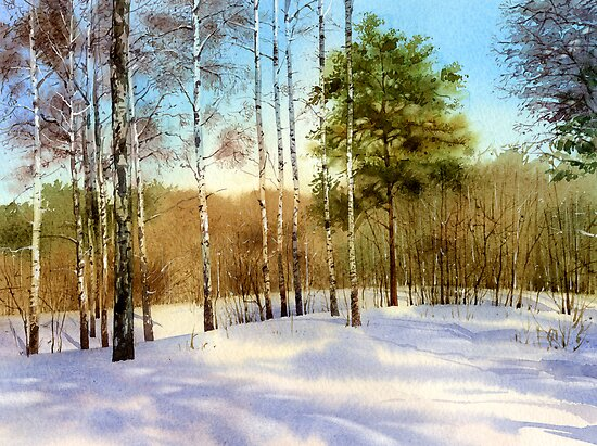 Winter forest by Sergei Kurbatov